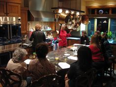 Girls Night In Cooking Class; Chef Bette teaching about making her Ants Climbing a Tree dish