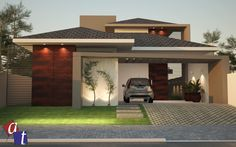 Best Ideas For House Front Exterior Building House Floor Design, House Outside Design, Modern House Design, Bungalow Haus Design, Bungalow House Plans, Dream House Plans, Contemporary House Plans, Modern House Plans, Style At Home