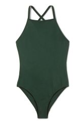 <p>The Atlantis Swimsuit has a sleek silhouette and minimalistic style. Design details such as a straight neckline, high cut legs, crossed straps and an additional wide strap at the back add to a polished look.</p><p>- Size Small measures 70 cm in length and 72 cm around the chest.</p><p> </p>