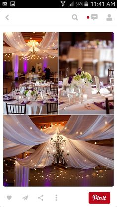 Lights and draping
