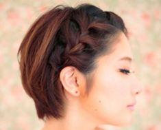 penteado de festa cabelo curto