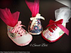 Little booties favor boxes, baby shower party favors