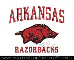 baseball team Machine Embroidery Designs (razorbacks) 5x7 - Instant Download by SportyStitches on Etsy https://www.etsy.com/listing/182546981/baseball-team-machine-embroidery-designs