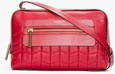 Red Quilted Leather Padam Shoulder Bag - Lyst