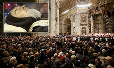 Catholic saint Padre Pio back at the Vatican, 50 years after his death #DailyMail