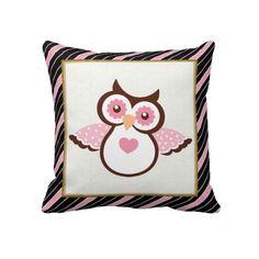 Cartoon Owl Pillow