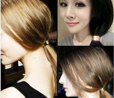 Ponytail Holder HairCuff Band Wrap Elastic Punk Hair Metal Ornaments Rope WCA067 #Unbranded #Fashion