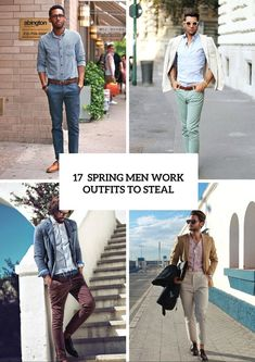 17 spring men work outfits to steal