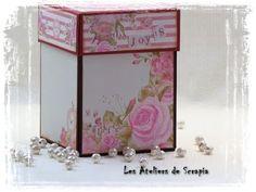 155 Exploding box with mini album inside for Megs Garden - YouTube