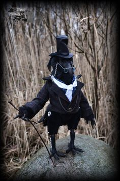 """HAND MADE Doll by Fantasy-dolls-Zlata Dr. Benjamin Crow Anthropomorphic. Series of dolls 2015 """"Gothic Fantasy Forest"""" January 2015"""