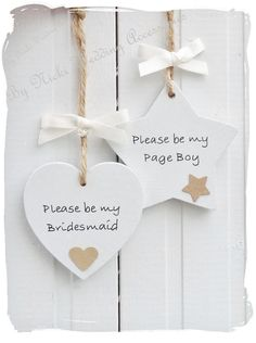 Will you be my...... Wooden Heart or Star Bridesmaid / by bynicki, $4.00                                                                                                                                                     More                                                                                                                                                                                 More