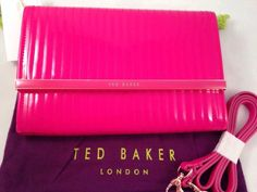 Ted Baker Mini Ipad Cross Body Clutch Bag Deep Pink. Love the shocking pink colour :)