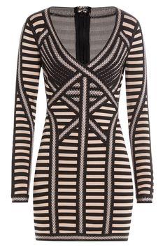 Hervé Léger - Striped Mini Dress