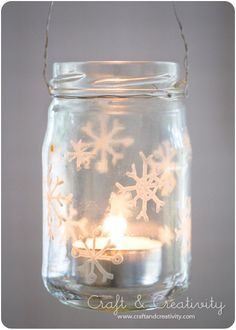 Make a super cute festive lantern by jazzing up an old food jar with some tippex. Doesn't sound like a recipe for a winning christmas dec, but it SO works. (see the tutorial)   - Cosmopolitan.co.uk