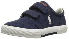 2c533c0fffc Polo Ralph Lauren Kids Faxon II EZ Fashion Sneaker (Toddler), Navy/White, 4  M US Toddler