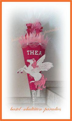 bastel-schultüten-paradies - Pferde , Pegasus ,Einhorn,Schultüten, selbst gebasteln , wie bastel ich , schultüte, bastelset, Handarbeit gebastelt
