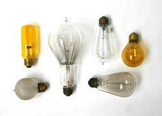 lightbulbs via A COLLECTION A DAY