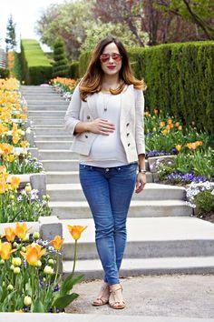 Spring Neutrals- Maternity Style #mychicbump #mommytobe