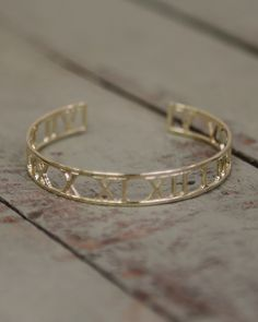 638f1002e Dainty elegant roman numeral design bracelet. Perfect for stacking with  other bracelets or wearing on