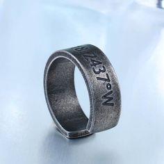 Viking Norse Vintage Women Ring Silver Sun Wukong Jewelry Monkey King Rod Black