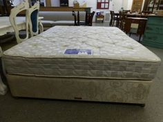 King size bed and mattress GC Mattress is Silent Night Miracoil ------------------------- £85 (PC404)