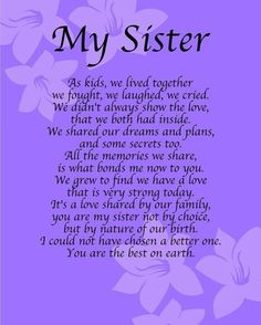 birthday quotes for sister ~ birthday quotes ; birthday quotes for best friend ; birthday quotes for him ; birthday quotes for me ; birthday quotes for daughter ; birthday quotes for sister Sister Poems Birthday, Birthday Quotes For Him, Birthday Wishes Quotes, Happy Birthday Little Sister, Birthday Prayer, Birthday Thoughts For Sister, Birthday Status For Sister, Birthday Greetings, Happy Birthday Beautiful Sister