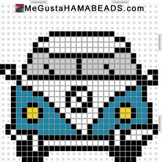 VW T1 hama perler beads pattern - Crochet / knit / stitch charts and graphs