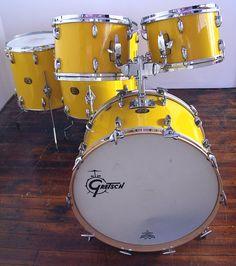 Yellow Drum Set