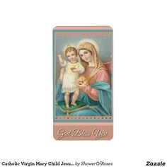 Catholic Virgin Mary Child Jesus Stickers Address Label