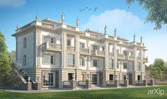 Гостиница в г. Алушта #architecture #3floors_9m #neoclassicism #hotel #motel #1000_3000m2 #frame_ironconcrete #highrisebuilding #structure #facade_stone