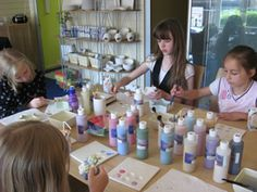 Jets Craft Café pottery painting, decopatch, teddy bear and soap making studio. Childrens parties - Bromsgrove Worcestershire.