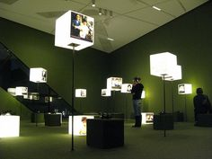 light cubes at the Jewish Museum