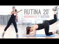 Rutina de cardio 20 minutos con abdominales y gluteos - YouTube