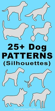 CHIEN ET . Dog breeds silhouettes patterns, stencils, and templates for coloring, scroll saw, laser cutting. Wood Carving Patterns, Stencil Patterns, Stencil Designs, Wood Patterns, Stencil Templates, Carving Designs, Cross Patterns, Woodworking Patterns, Woodworking Crafts
