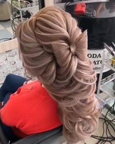 Hairdo For Long Hair, Cute Hairstyles For Medium Hair, Wedding Hairstyles For Long Hair, Up Hairstyles, Medium Hair Styles, Braided Bun Hairstyles, Updo, Hair Style Vedio, Hair Cutting Techniques