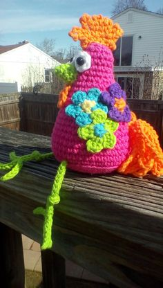 Funky Chicken Trio Crochet Amigurumi by PinkChihuahuaCrafts Crochet Patterns Amigurumi, Crochet Dolls, Crochet Hats, Easter Crochet, Crochet For Kids, Crochet Headband Free, Crochet Chicken, Origami, Crochet Animals