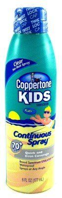Coppertone SPF#70+ Continuous Spray Clear Kids 6 oz. by Coppertone. $13.99
