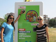 This Clever Machine Feeds Stray Animals While It Recycles Plastic Bottles
