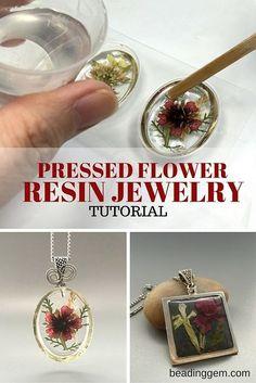 >> Methods to Make Pressed Flower Resin Jewellery (The Beading Gem's Journal)