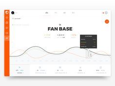 Social media analytics chart – User interface by Marco Coppeto Dashboard Interface, Web Dashboard, Ui Web, Dashboard Design, App Ui Design, User Interface Design, Flat Design, Dashboard Mobile, Design Web