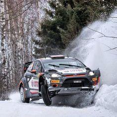 Rally Sweden 2015 @rkubica_wrt_official -Maciej Szczepaniek Ford Fiesta RS #WRC @msportltd #rally #rallysweden by rallying_world