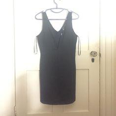 Little black dress Deep-V little black dress. Never worn! Dresses Mini
