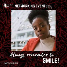 Always Remember to... Smile! - It's a simple – but often overlooked – rule of engagement. By smiling, you'll put your nervous self at ease, and you'll also come across as warm and inviting to others. #networkingevents #businessevents #business Business Events, Business Networking, Rules Of Engagement, Training Classes, Upcoming Events, Growing Your Business, Business Opportunities, Monday Motivation, Cover Photos