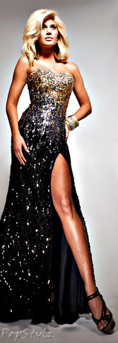 Tony Bowls Shimmering Gown