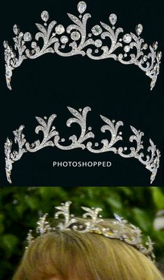 Harcourt Diamond Tiara (top) - Viscountess Harcourt was a niece of J P Morgan  - altered and recently worn by London Lord Mayor's Wife
