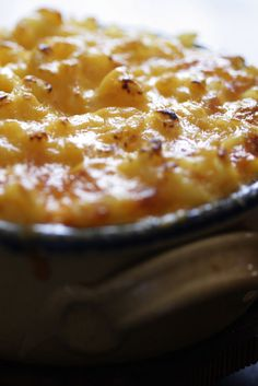 NYT Cooking: Macaroni and cheese may seem an easy proposition. Noodles, cheese. But the secret to this creamy dish with a crunchy and crisp top is American cheese. This is no place for fancy cheeses or fancy noodles. Leave the whole-wheat penne and artisanal orecchiette in the cupboard and bring on the elbow pasta.