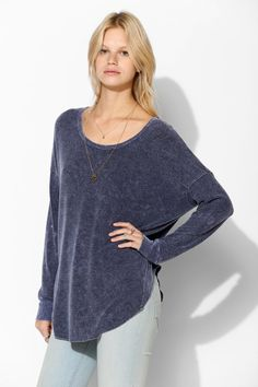 Sparkle & Fade Drop-Shoulder Top - Urban Outfitters