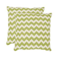 Safavieh 2 Pack Striped Tealea Pillow - Green ($140) ❤ liked on Polyvore featuring home, home decor, throw pillows, green, stripe throw pillows, green toss pillows, chevron stripe throw pillows, striped throw pillows and green throw pillows