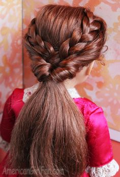 Doll Hairstyle: Braided Ponytail Flip! - http://www.americangirlfan.com/2014/11/american-girl-doll-hairstyle-braided-ponytail-flip.html