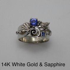 14K white gold Sapph